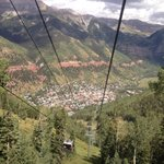 Telluride from gondola on the way down from Mountain  Village