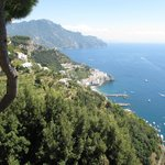 View from poolside to Amalfi
