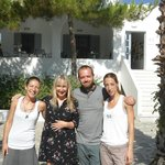 us and the hotel staff Aggi & Dimi
