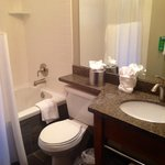 One of the bathrooms in our room.  Spacious tubs, clean and lots of towels.