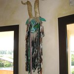 Authentic Sardinian Masks in Dining Room