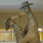 Bronze Life Size Statues Throughout Hotel