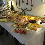 The breakfast spread - delicious!