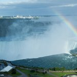 Horseshoe Falls and Rainbow from our room
