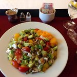 Delicious salad from room service