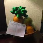 Nice fruit basket that was left by another patron.