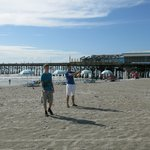The Cocoa Beach pier is adjacent to the Best Western