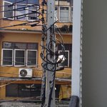 Tangled cable post was right outside my room 215