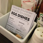 Breakfast: Eggs cooked to your liking