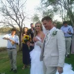 Our happy day where we got married in the beautiful garden