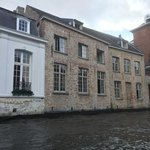 view of Canalside Hotel Ter Reien from canal boat tour