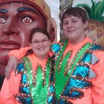 Dressing-up for the Mardi Gras Float