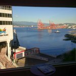 view from room onto Canada place