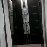Shower area in middle part of suite