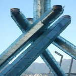 Right by the Olympic cauldron from 2010