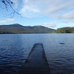 Dock on Lake Placid from Lakeshore trail