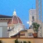 View from the wine terrace.  Full moon over the Duomo!