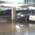 flooded parking garage