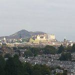 View of Edinburgh Castle from the 6th floor (zoomed in)