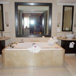 Master Bath with welcoming flowers