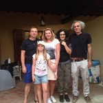 my family and owners Саsa de Oliva, July 2014