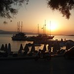 Sunset nearby at Agia Anna