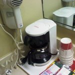 Coffee maker in filthy bathroom...not appetizing..no sir.