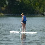 Paddle-boarding at the marina