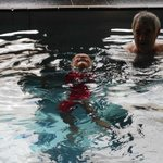 Jacob and Grandad in the pool ..