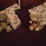 Teddies greet you after a long day sightseeing