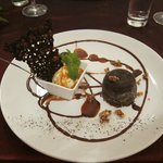 The chocolate dessert