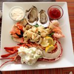 Seafood platter is nice and great to shower as a starter or entree