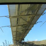 Driving under the ore conveyor belt (on the tour)