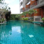 A beautiful pool surrounded by frangipani trees - the pefect way to end your day!