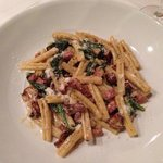 Pasta with chanterelle mushrooms. Rich and creamy
