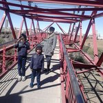 Millicent, Ronald and Ryan on the Bighole bridge