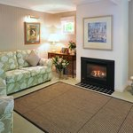 Stables Cottage comfortable lounge with gas log fire