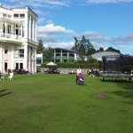 The croquet lawn kids play area
