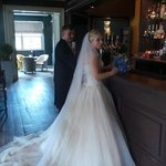 Bride and dad at the bar 29/8/13