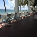 The terrace at Pelican Grand