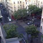 room with a view, rue Saint Martin and Rue aux Ours (left-right)