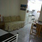Kitchenette and old bed