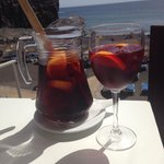 Sangria at the beach bar... Sunset optional!