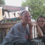 Me and Minie Me at Jake's for steaks!