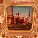 Lady Justice, hand painted on the ceiling of the Old Supreme Court chambers.