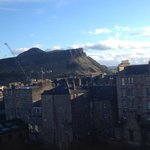 View from our room of Arthur's Seat