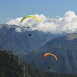 Paragliding from the top of the Malcesine Funiva