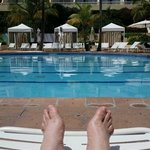 Feeling relaxxxx at one of the pools.
