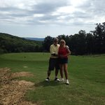 Just a beautiful day and a beautiful course and a beautiful cheerleader ( Nan) too !