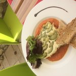Terrine courgette coulis de tomate